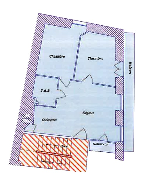Appartement-location-meuble-cure station themales salies_de bearn bayaa_3-pieces-plan-appartement